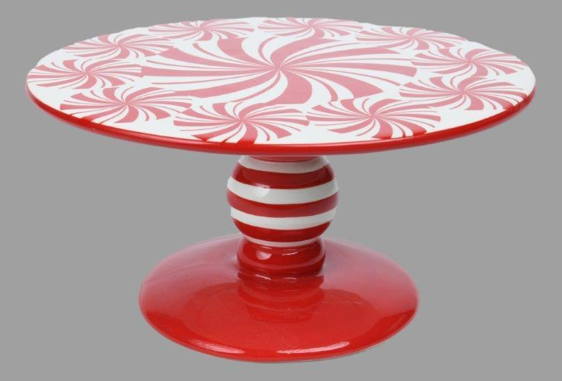 26cm Peppermint Swirl Cake Plate - My Christmas