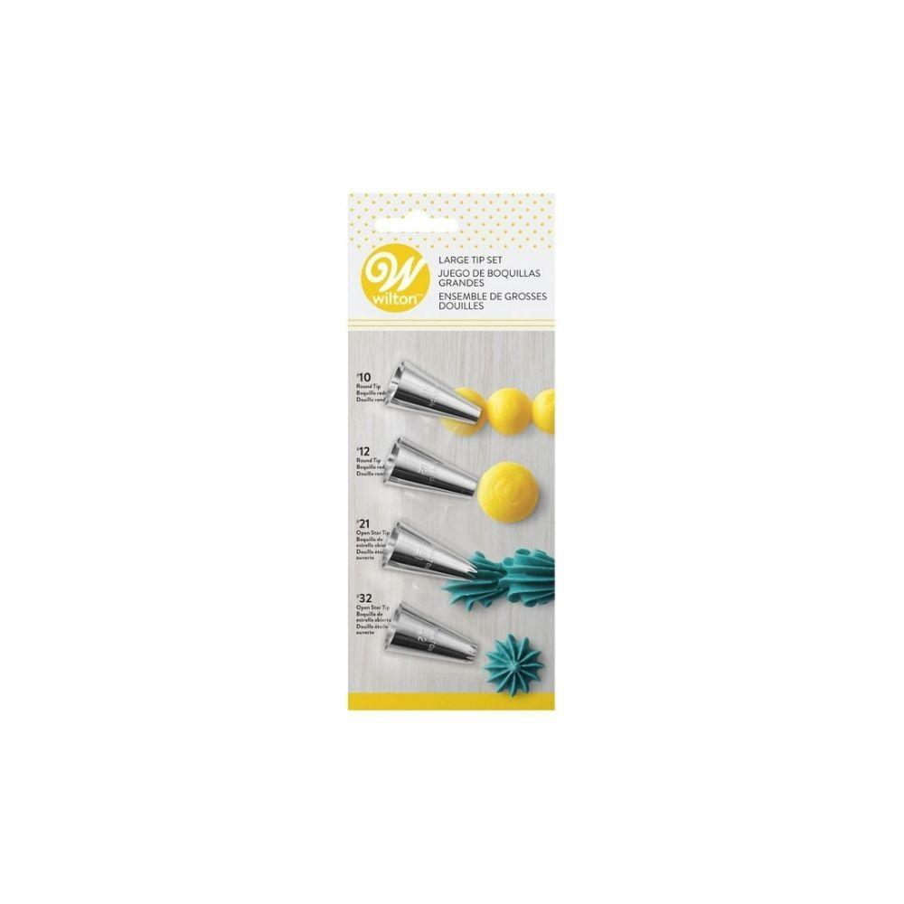 4 piece Large Icing Tip Set - My Christmas