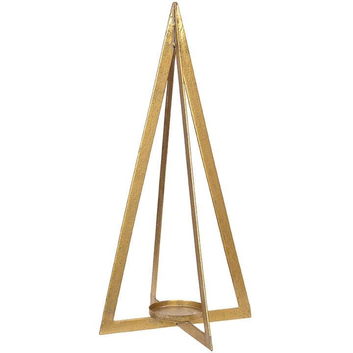 50cm Gold Tree Candle Holder - My Christmas