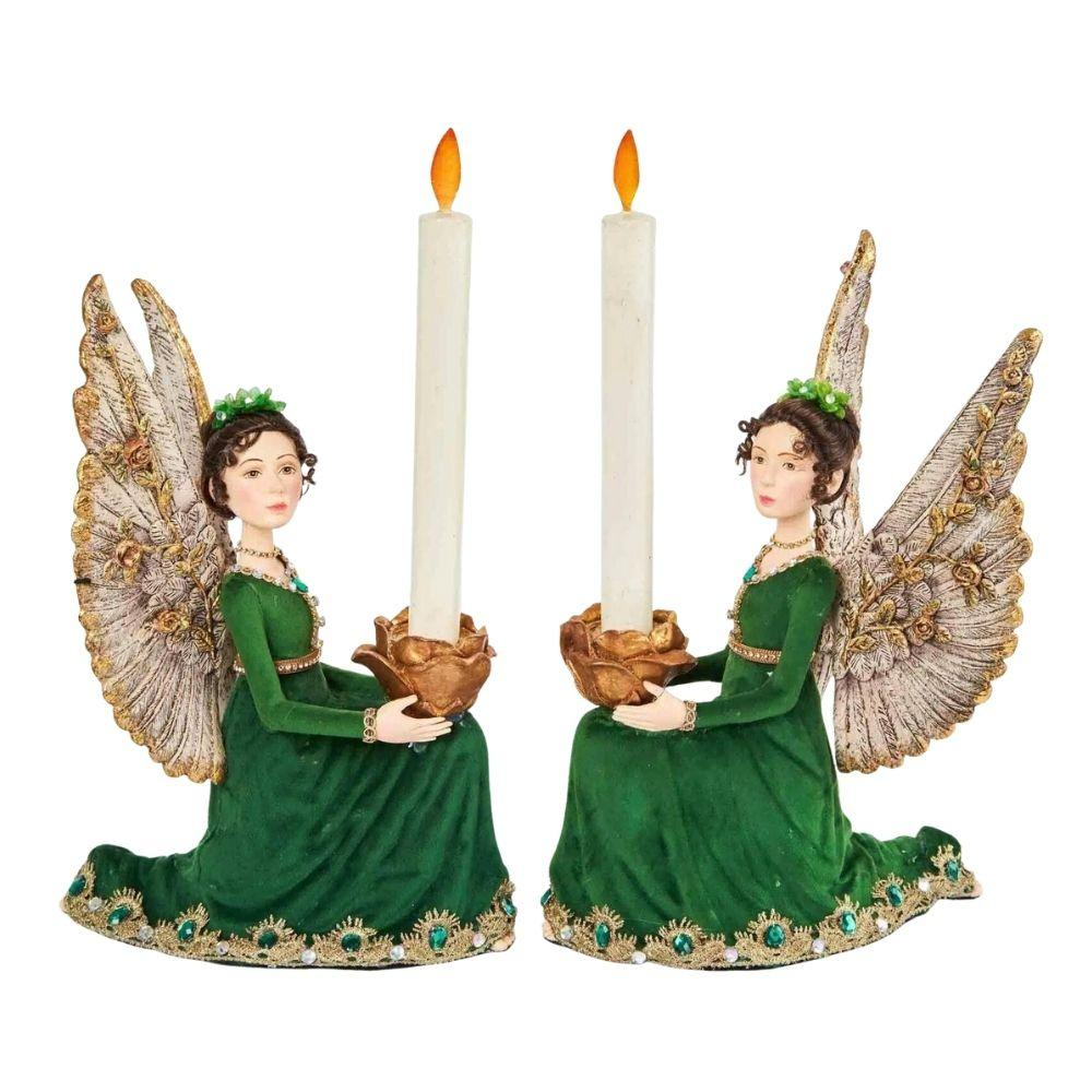 Angel Candle Holders (Set of 2) - My Christmas