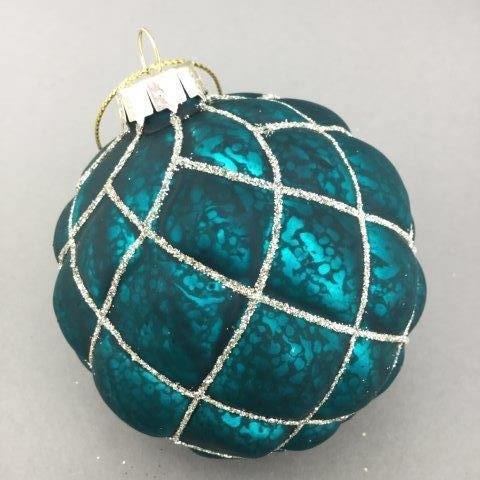 Antique Distressed Teal Ornament - My Christmas