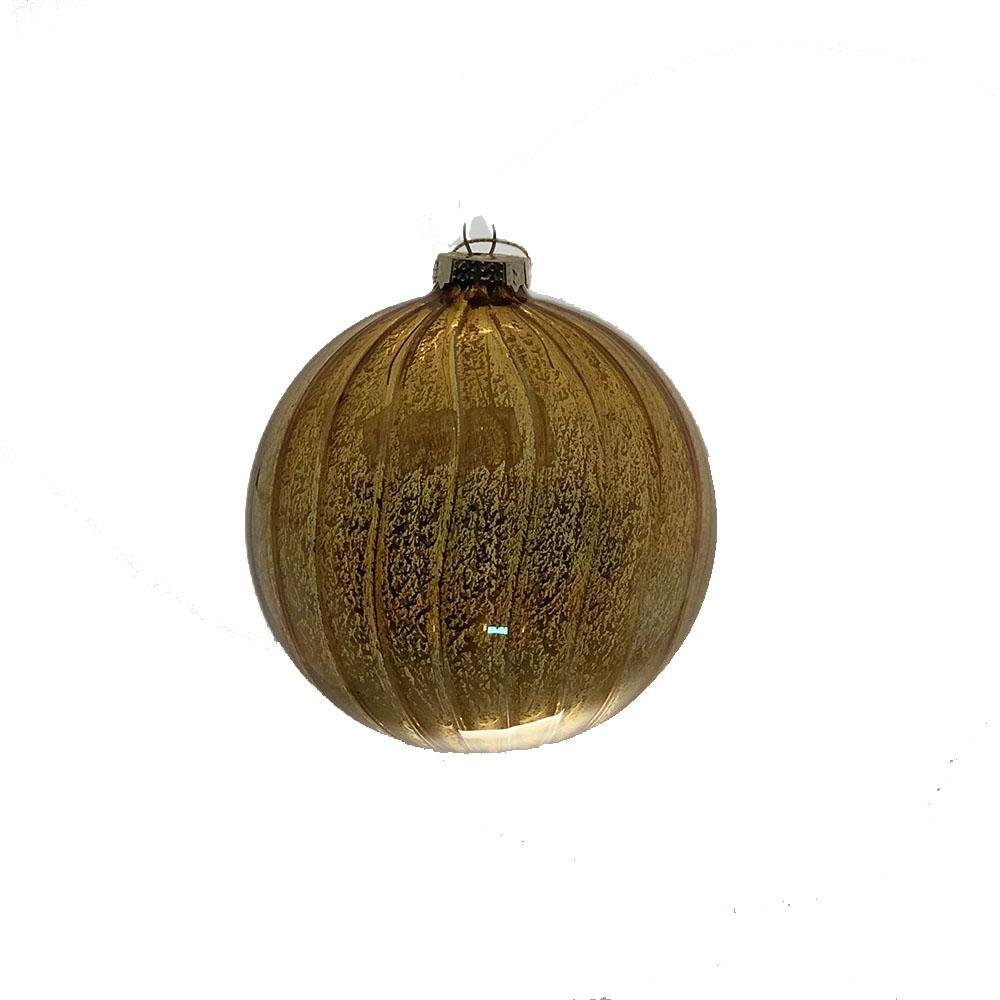 Antique Gold Ball Ornament - My Christmas