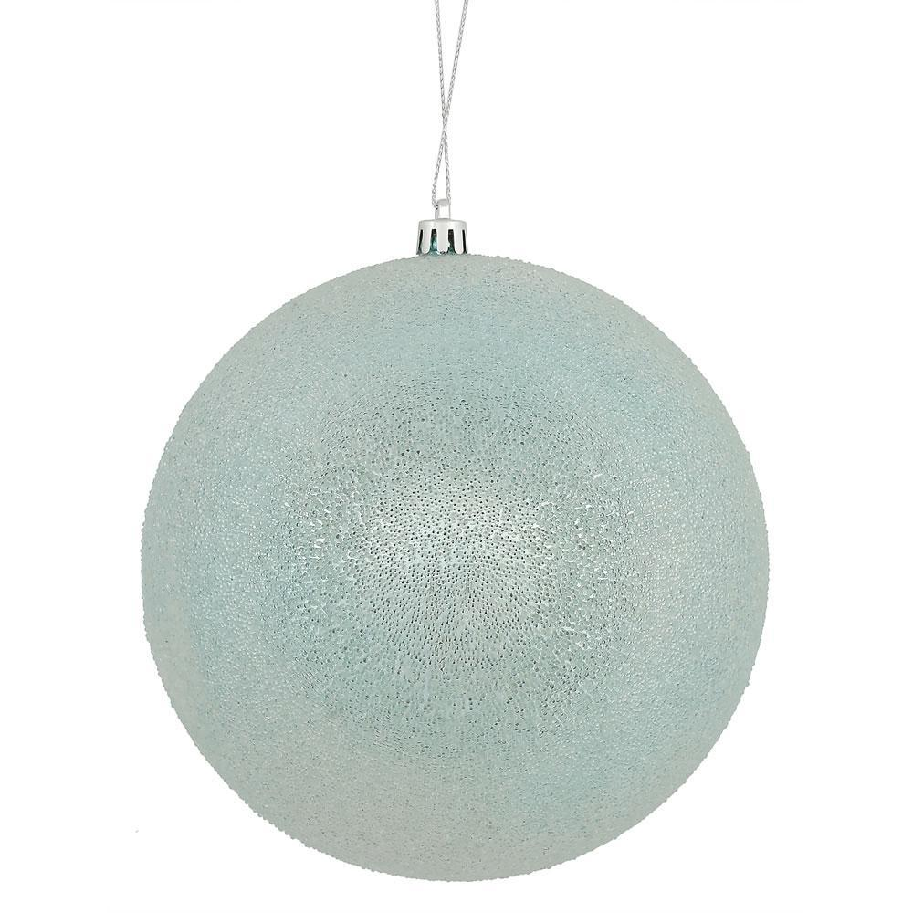 Baby Blue Iced Ball - My Christmas
