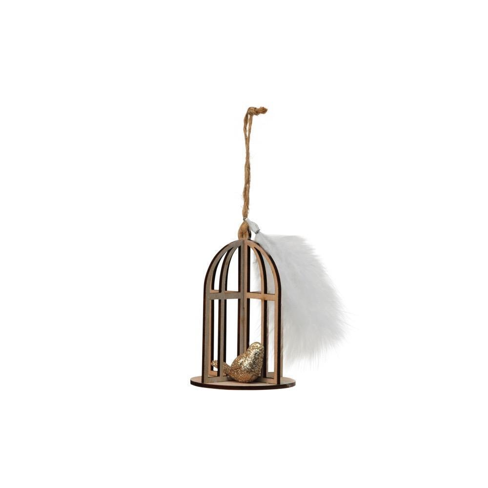 Bird Cage with Feather Ornament - My Christmas