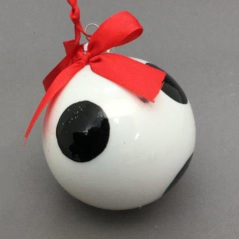 Black and White Polka Dot Ball - My Christmas