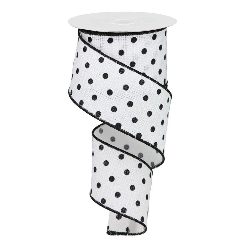 Black And White Polka Dot Ribbon - My Christmas
