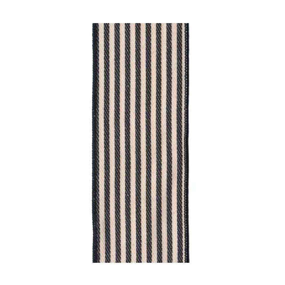 Black and White Striped Ribbon - My Christmas