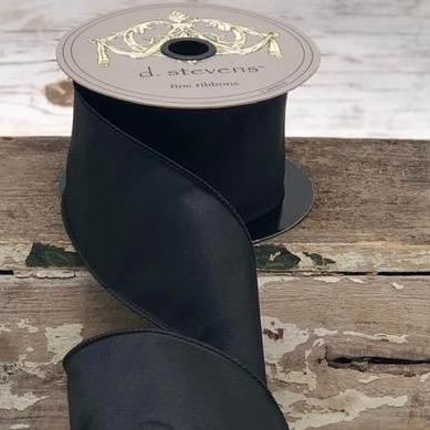 Black Taffeta Ribbon - My Christmas