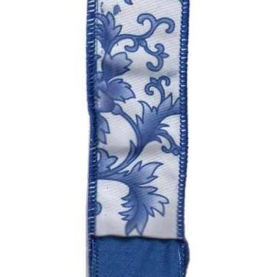 Blue Chinoiserie Ribbon - My Christmas
