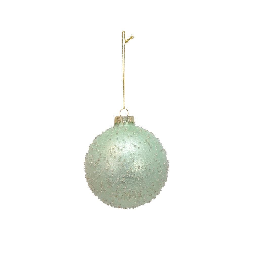 Blue Glass and Glitter Bauble - My Christmas