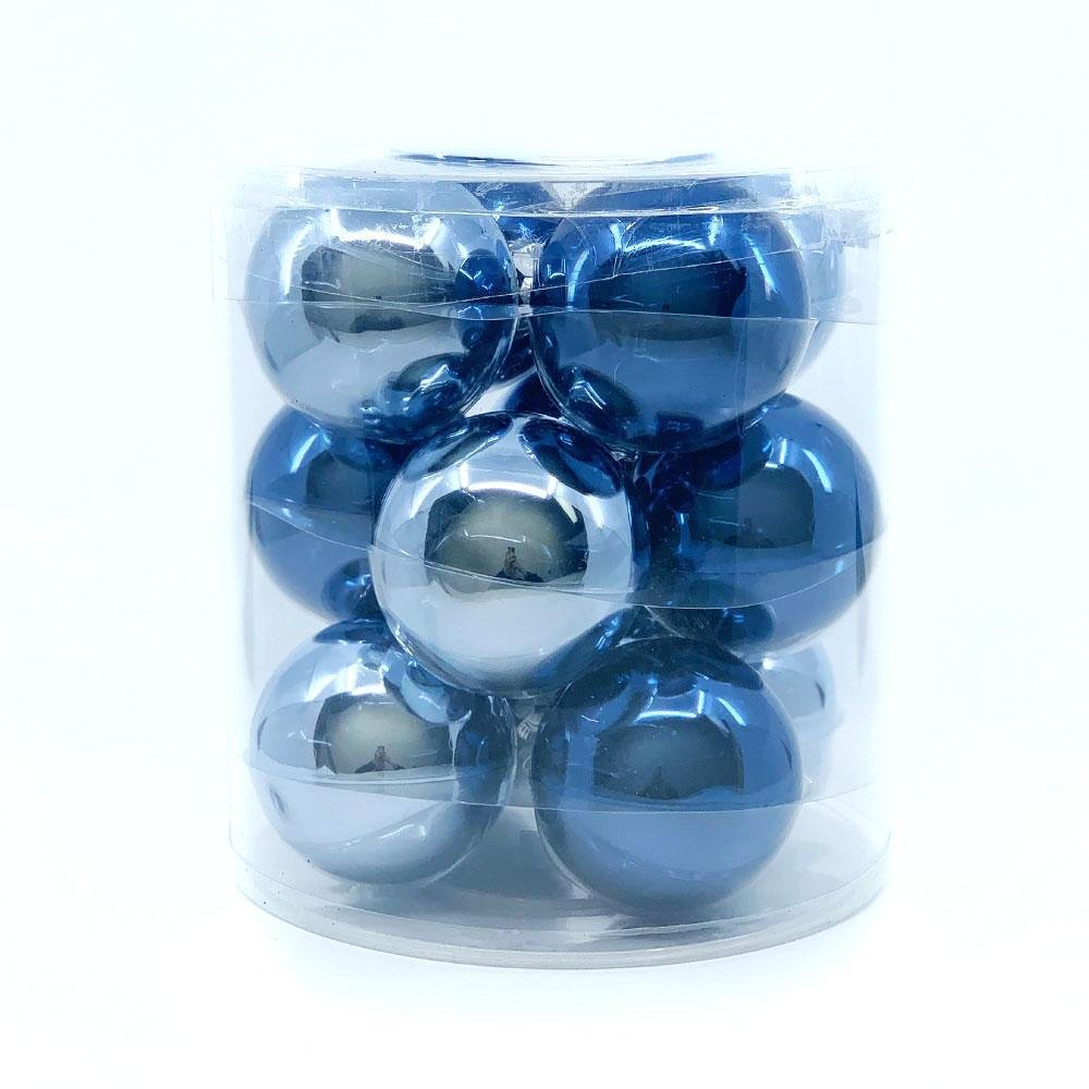 Blue Glass Bauble Pack, Various Sizes - My Christmas