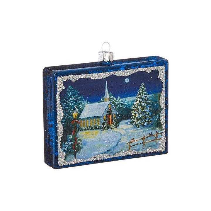 Blue Rectangular Hanging Ornament - My Christmas