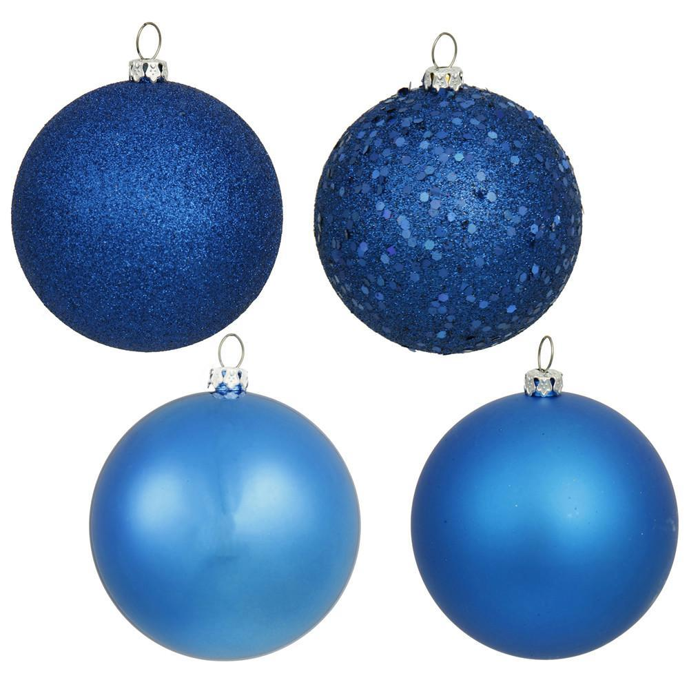 Blue Shatterproof Baubles, Various Sizes - My Christmas