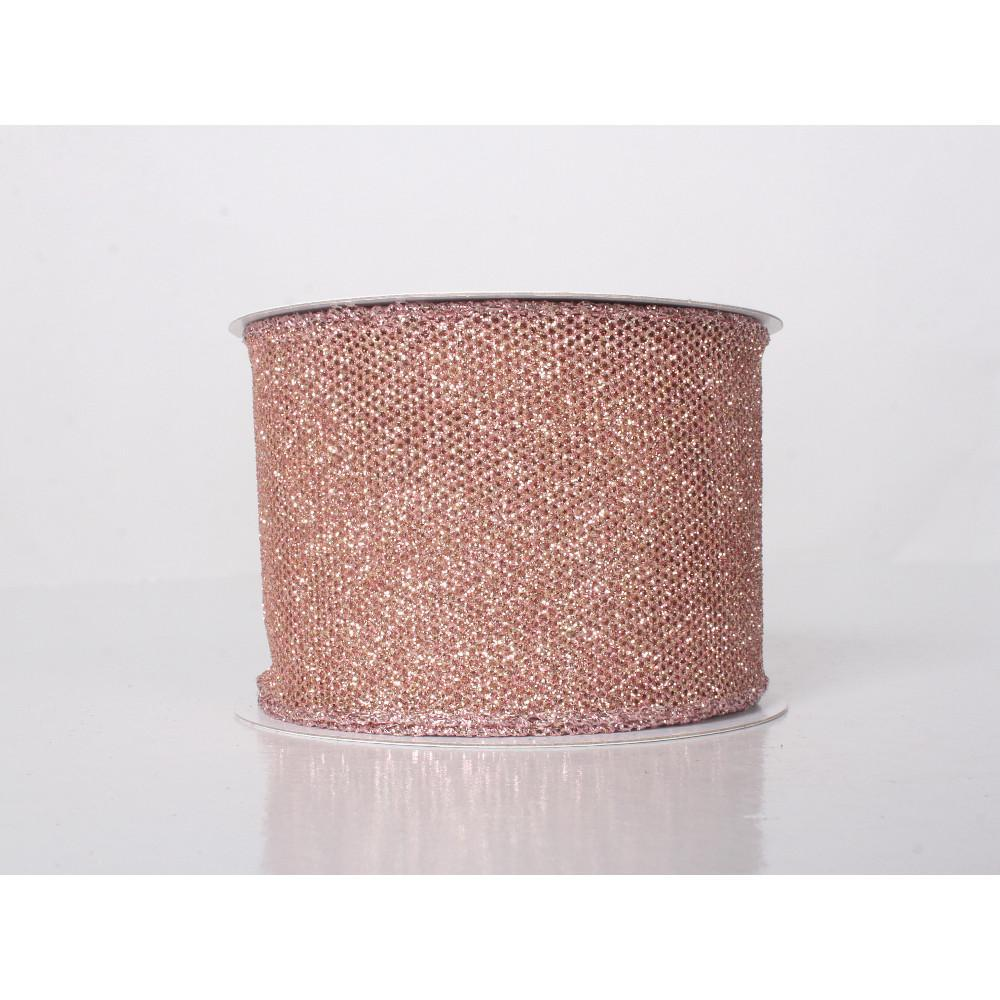 Blush Glitter Ribbon - My Christmas