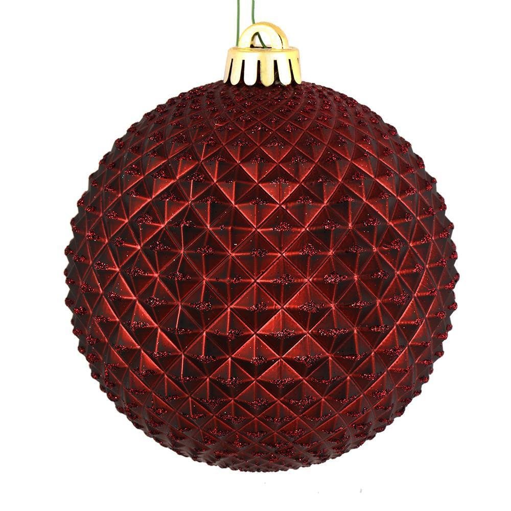 Burgundy Ball, 10cm - My Christmas