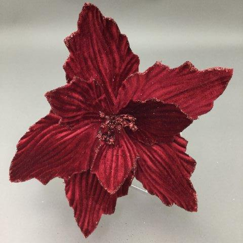 Burgundy Poinsettia - My Christmas