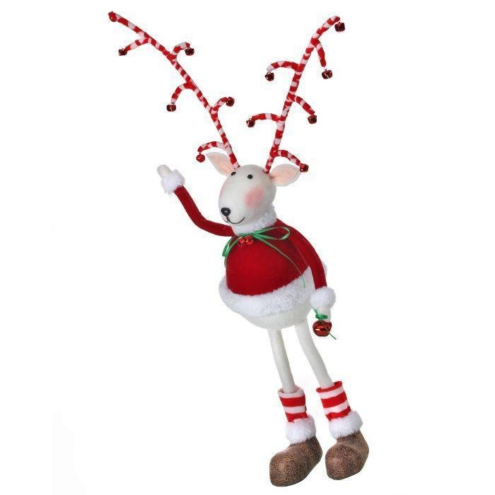 Candy Cane Long Leg Deer, 40cm - My Christmas