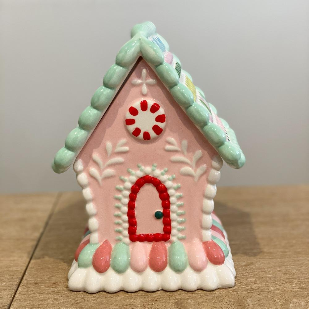 Candy Gingerbread House Lolly Jar - My Christmas