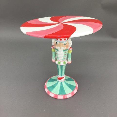 Candy Nutcracker Cake Plate - My Christmas