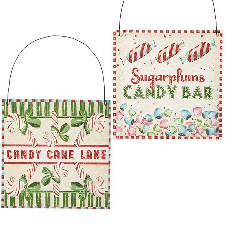 Candy Sign Ornaments - My Christmas