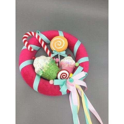 Candy Wreath Ornament - My Christmas
