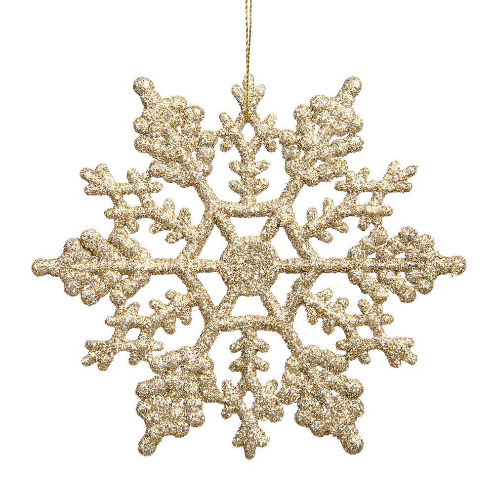 Champagne 20cm Snowflake, Pkt 12 - My Christmas