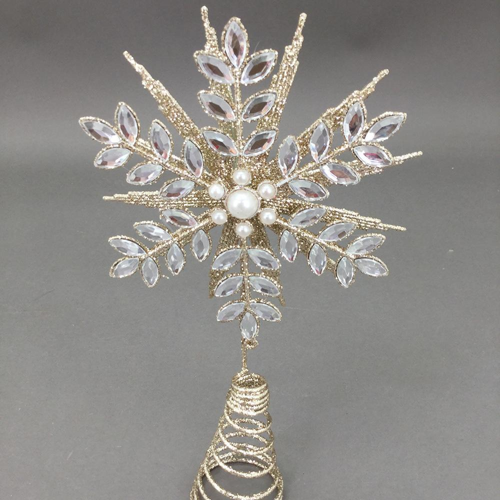 Champagne Crystal Tree Topper - My Christmas