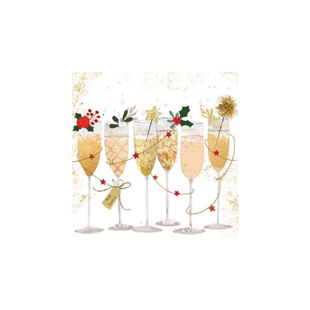 Champagne Glasses Napkin - My Christmas