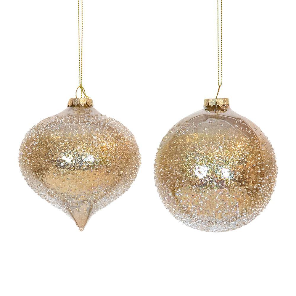 Champagne Ice Bauble, Assorted - My Christmas