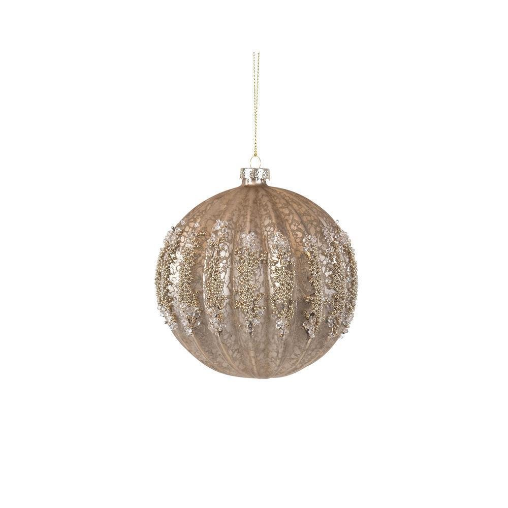 Champagne Ribbed Ornament - My Christmas