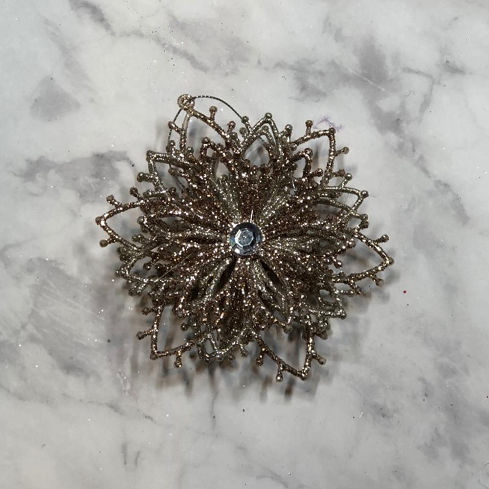 Champagne/Silver Glitter Ornament - My Christmas