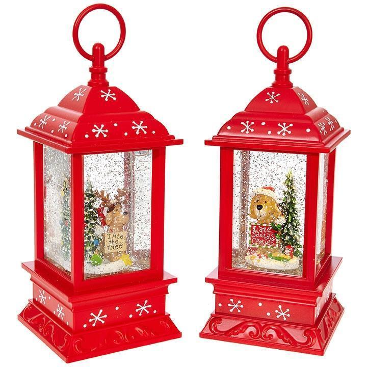 Christmas Pup Lit Water Lantern, 24cm - My Christmas