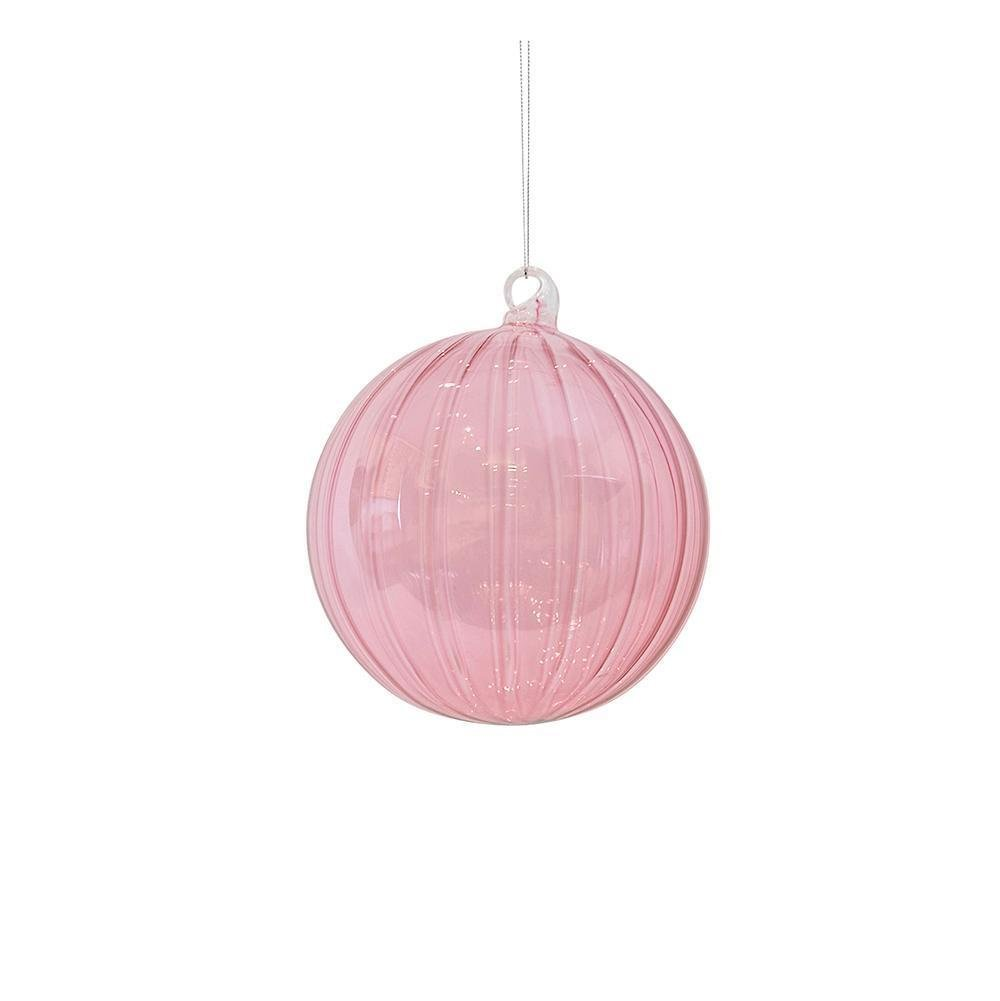 Clear Pink Glass Ornament - My Christmas