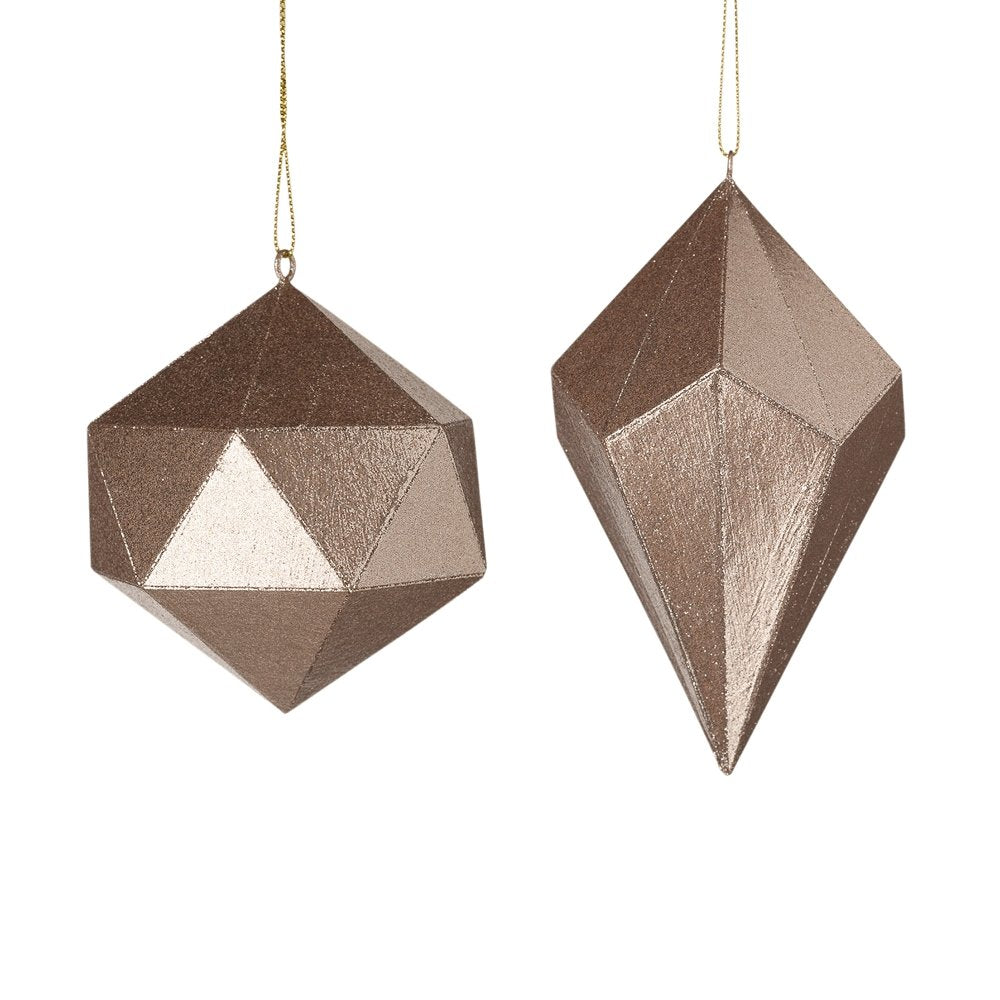 Copper Geometric Ornament - My Christmas