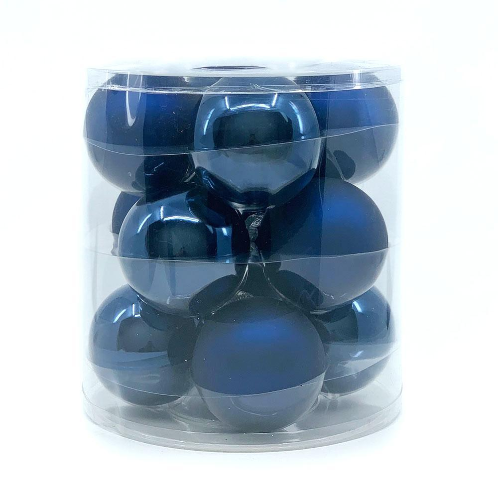 Deep Blue Glass Bauble Pack, Various Sizes - My Christmas