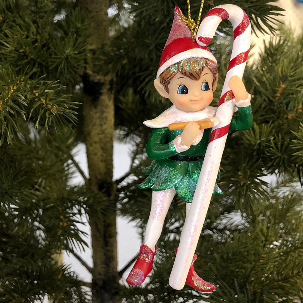 Elf with Cane Ornament - My Christmas