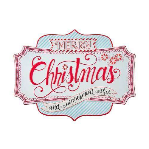 Embossed Sign - My Christmas