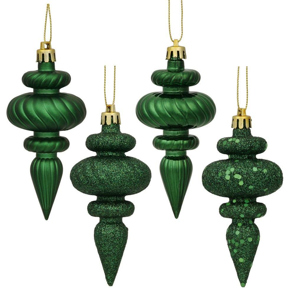 Emerald Finial 8 pack, 4 inch - My Christmas