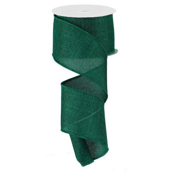 Emerald Green Burlap Ribbon - My Christmas
