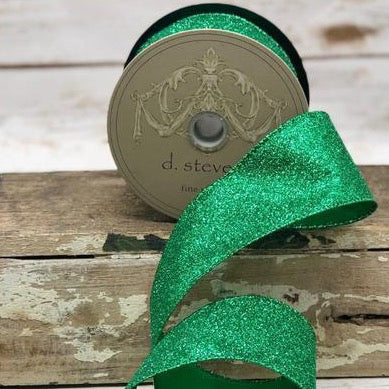 Emerald Green Glitter Ribbon - My Christmas