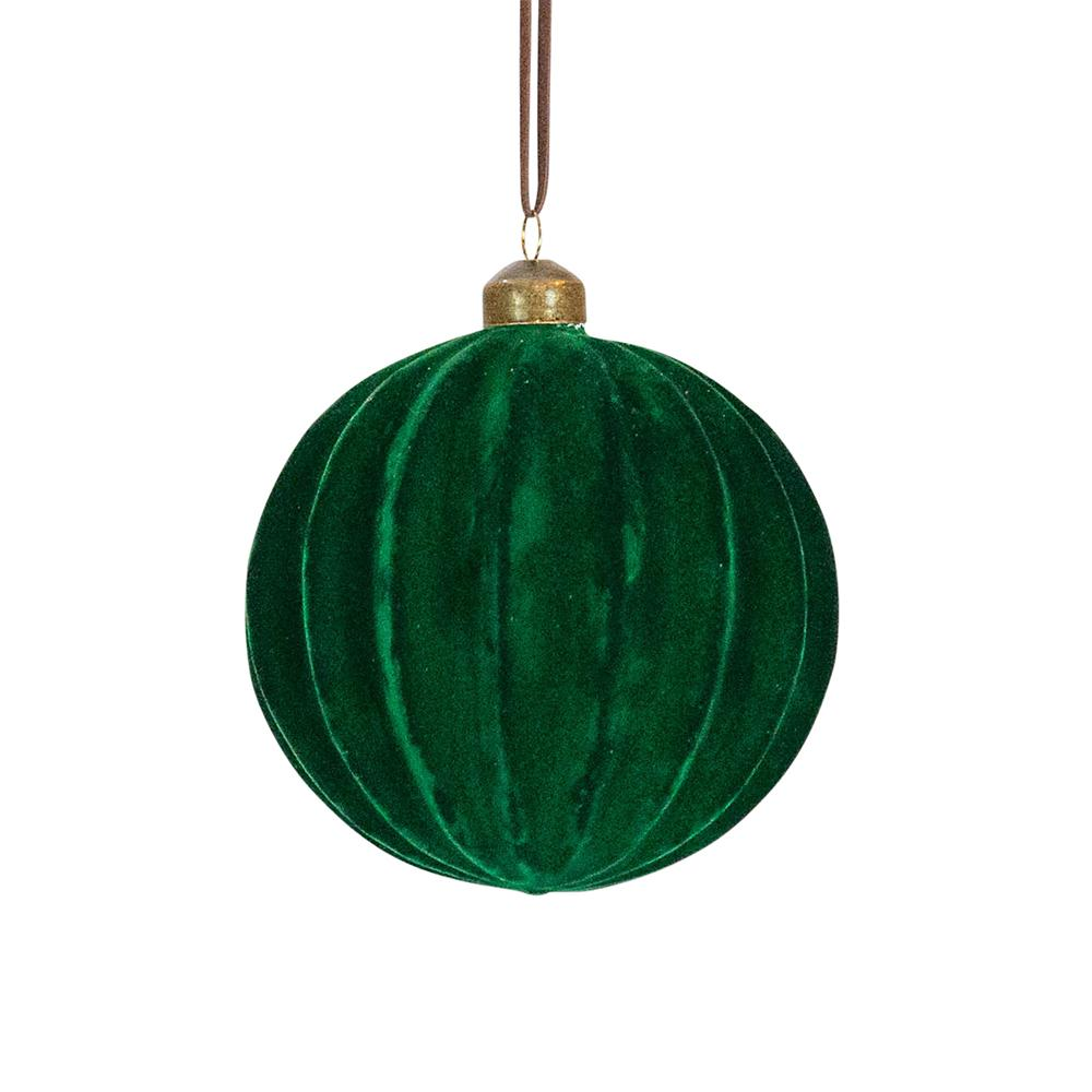 Emerald Ribbed Ball, Large - My Christmas