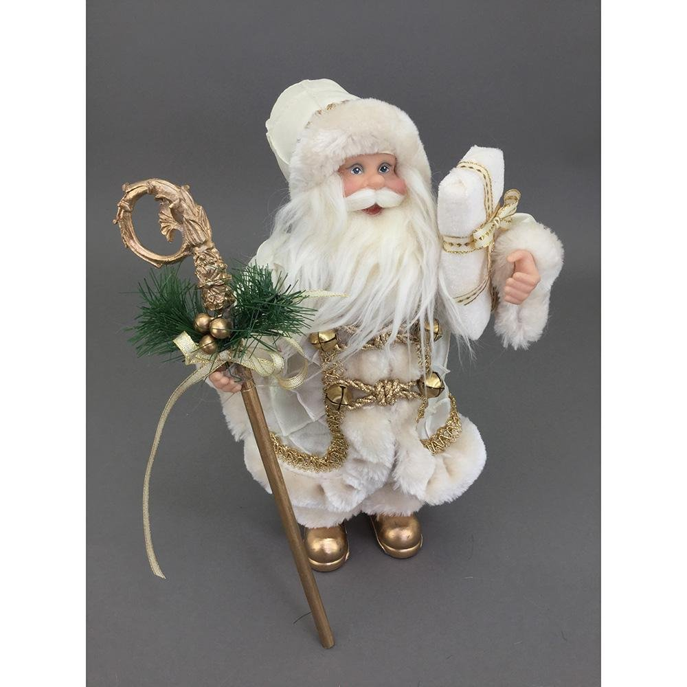 Free Standing Cream And Gold Santa, 60cm - My Christmas