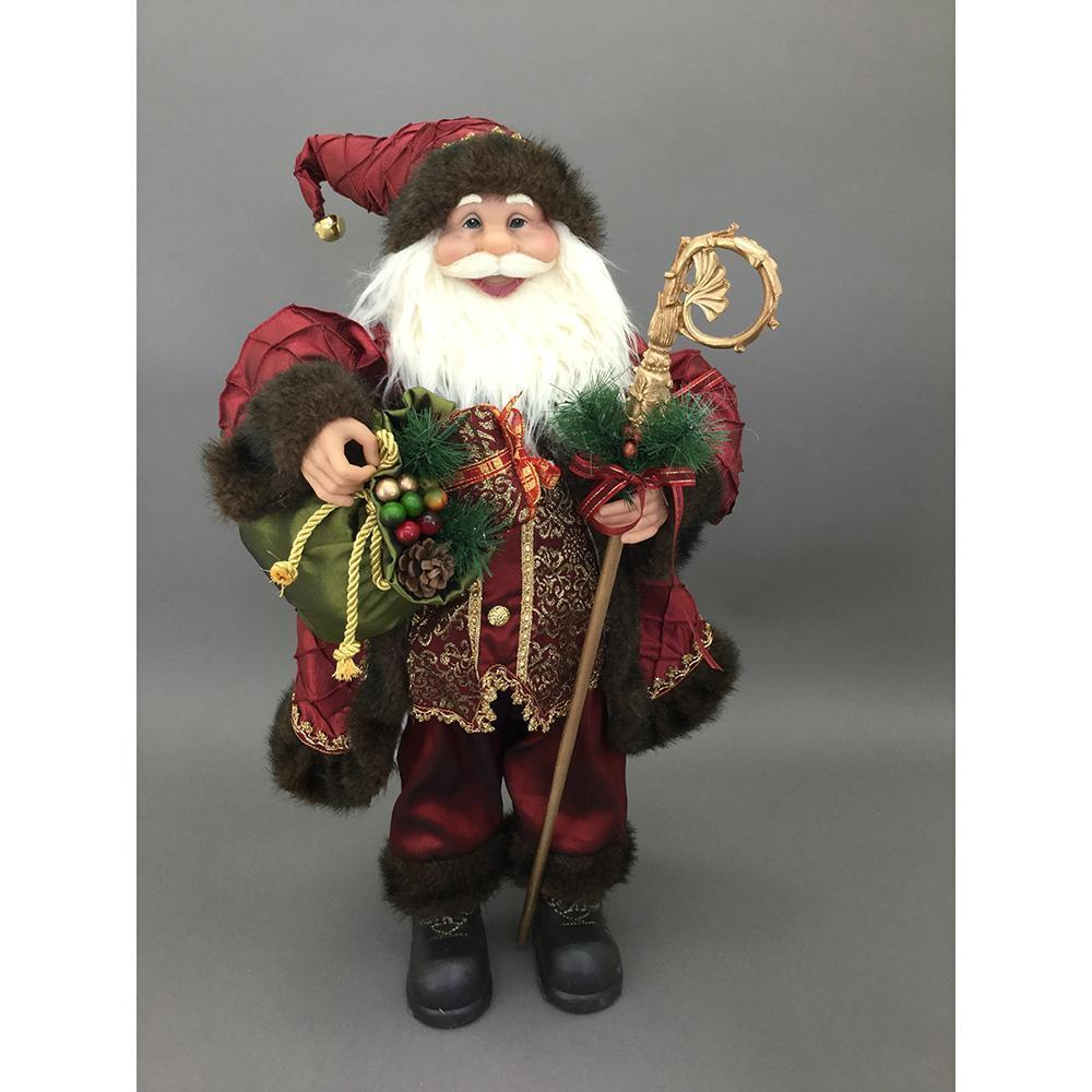 Free Standing Red And Green Santa, 30cm - My Christmas