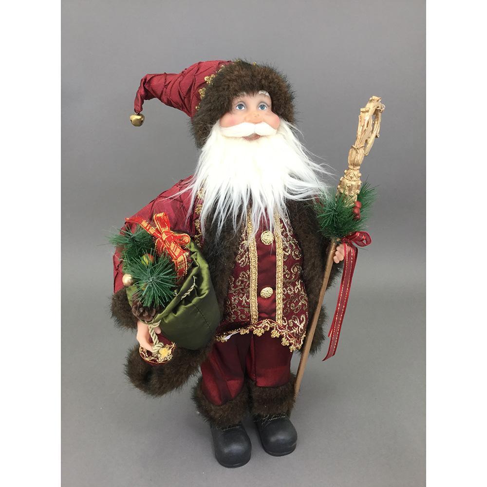 Free Standing Red And Green Santa, 45cm - My Christmas