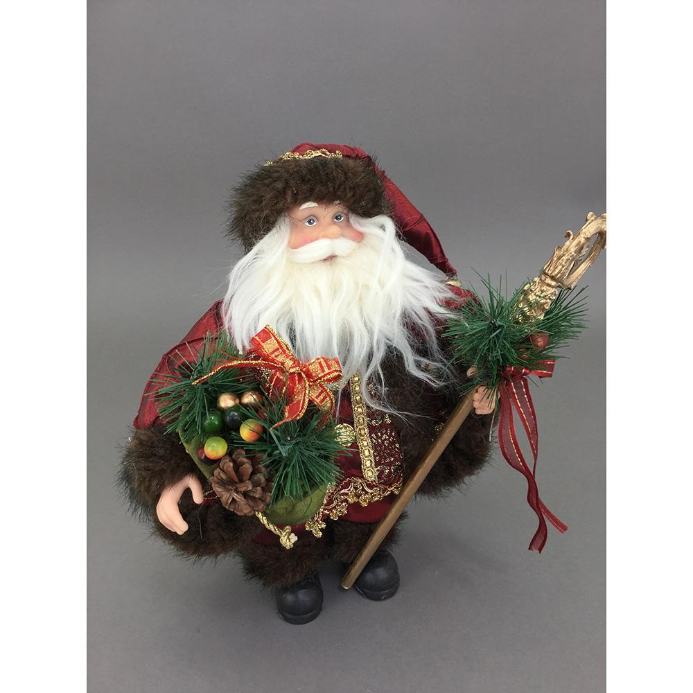 Free Standing Red And Green Santa, 60cm - My Christmas