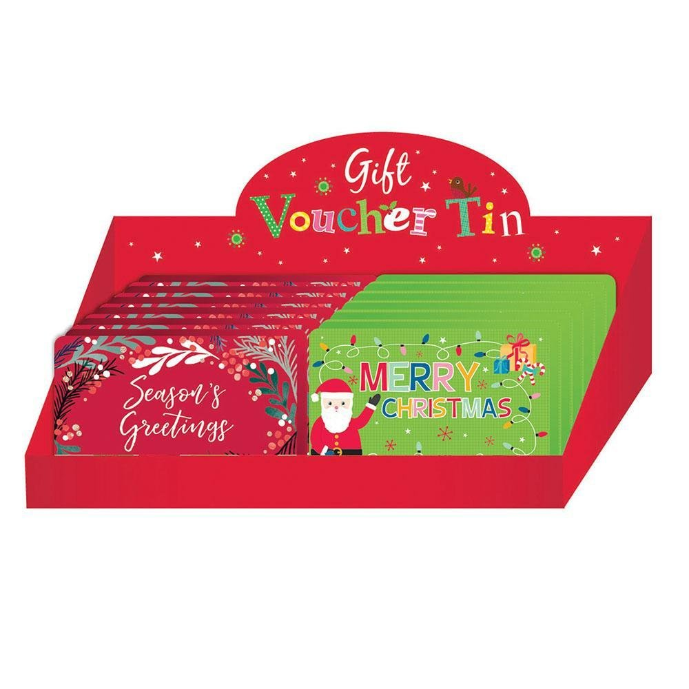 Gift Voucher Tin Box, Assorted - My Christmas