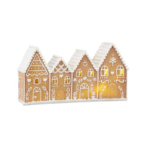 Gingerbread Lit Village - My Christmas