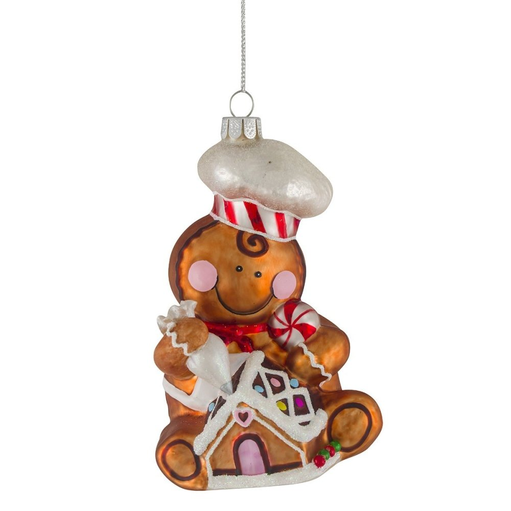 Glass Gingerbread Deco 12cm - My Christmas
