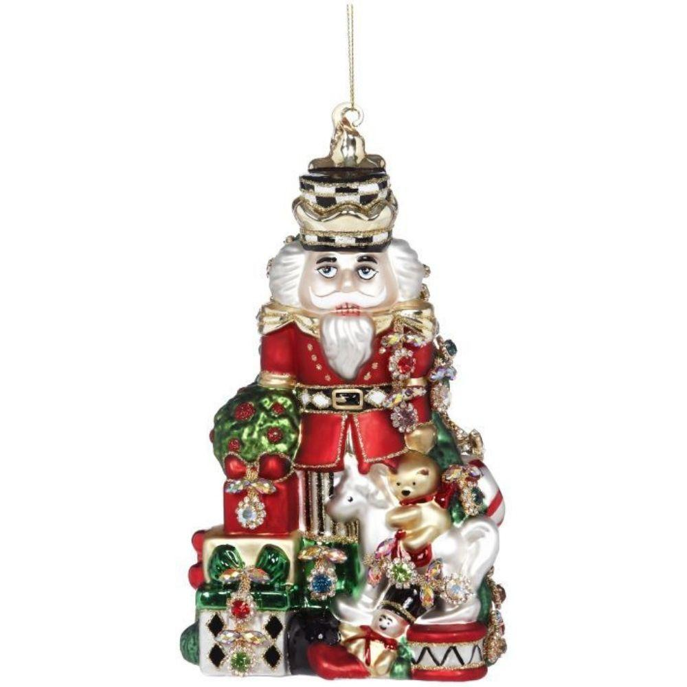Glass Nutcracker H/O, 20cm - My Christmas