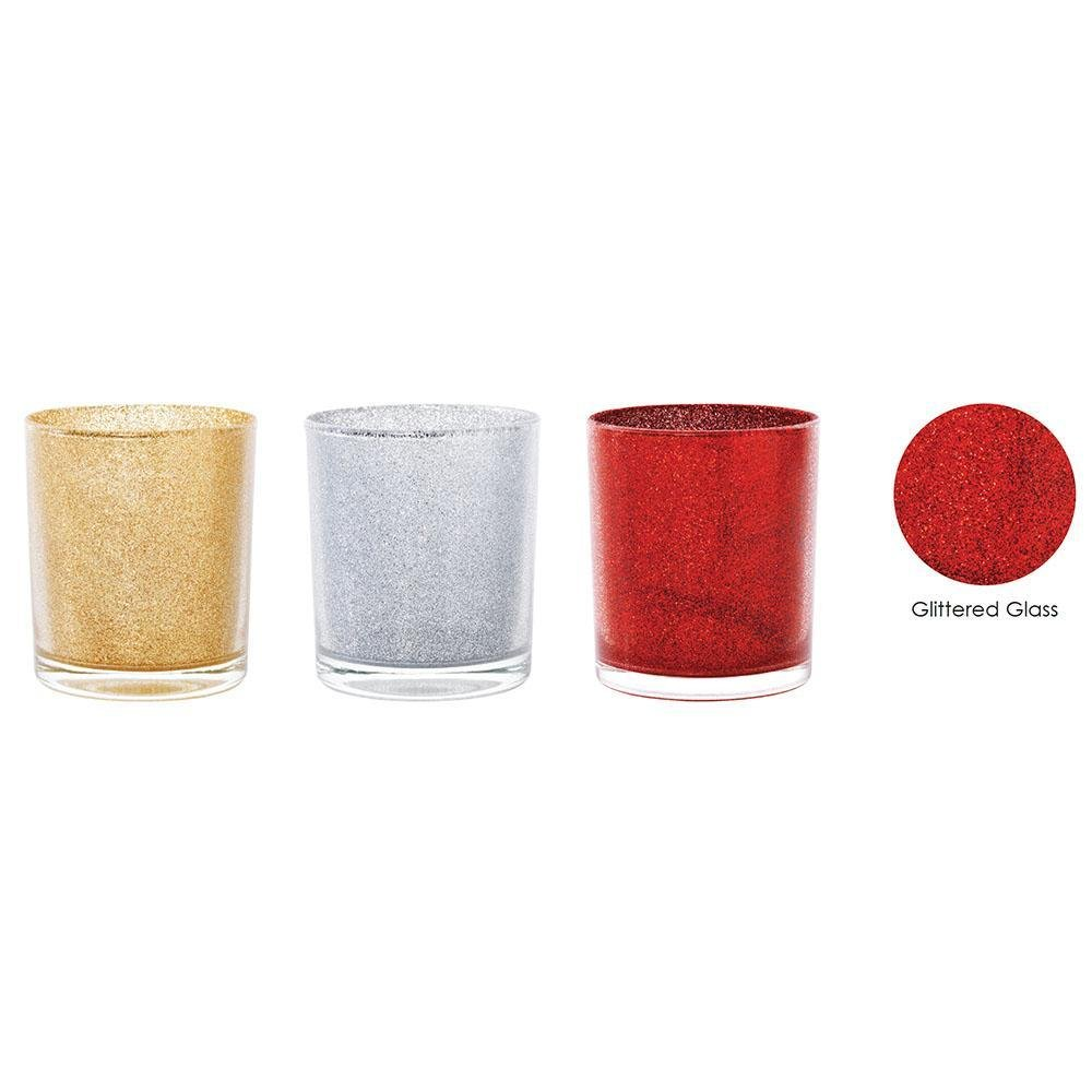 Glitter Candle Holder, Assorted - My Christmas